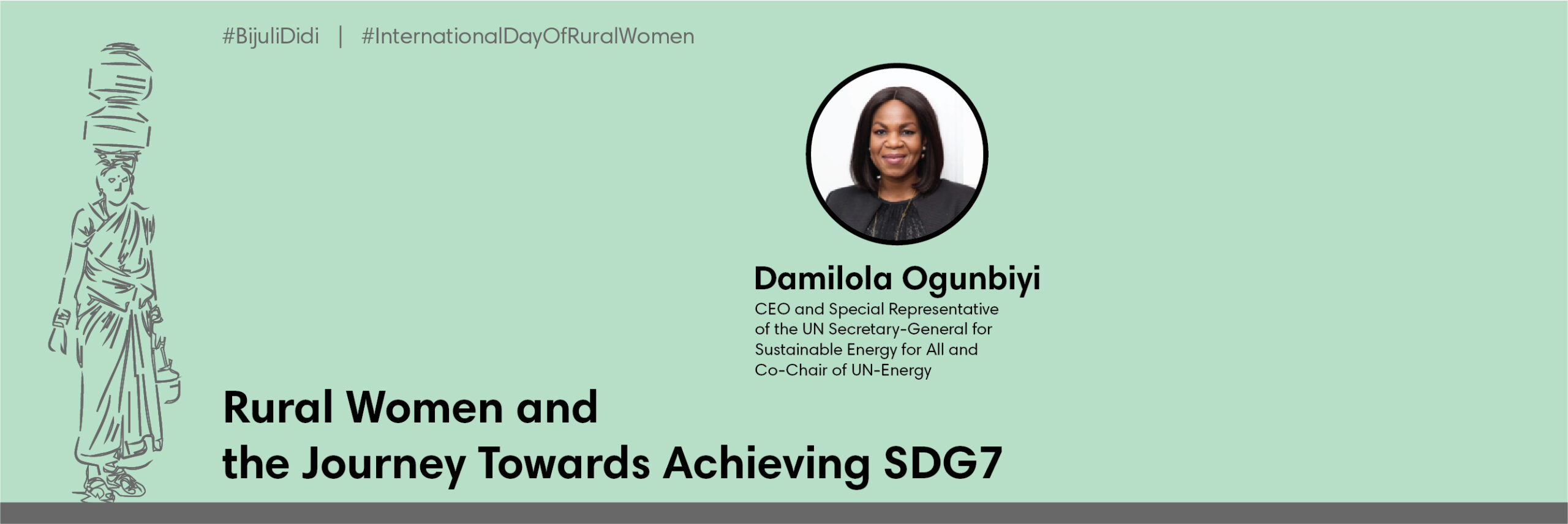 Rural women and the journey towards achieving SDG7
